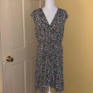 BNWT BCBG MaxAzria Leopard Print Faux Wrap Dress